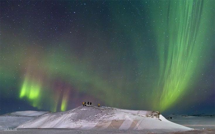 نمایش شفقهای قطبی از جیمز وودند