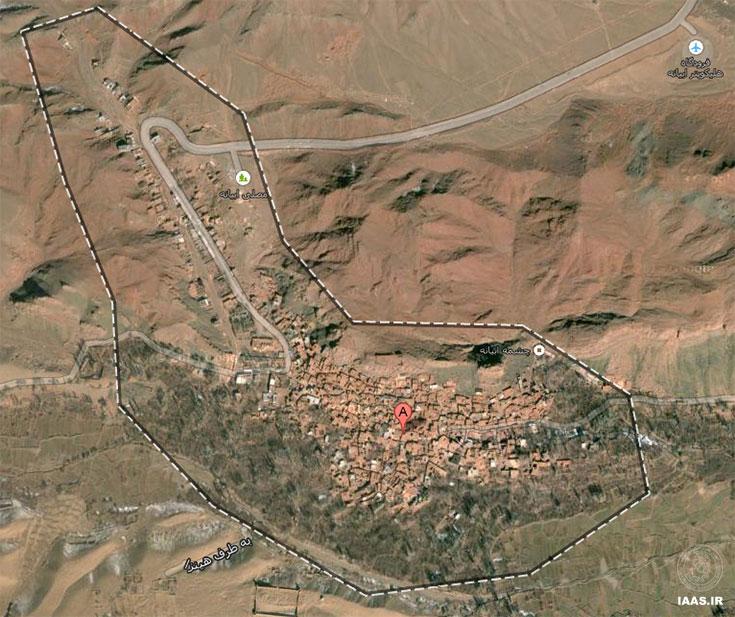 تصویر هوایی محدوده روستای ابیانه