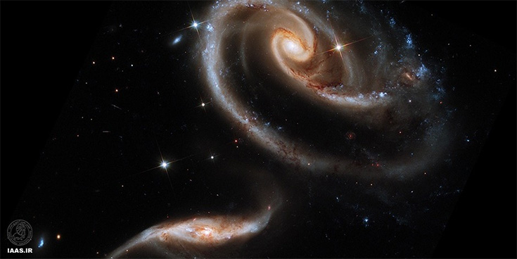 کهکشان متعامد arp 273