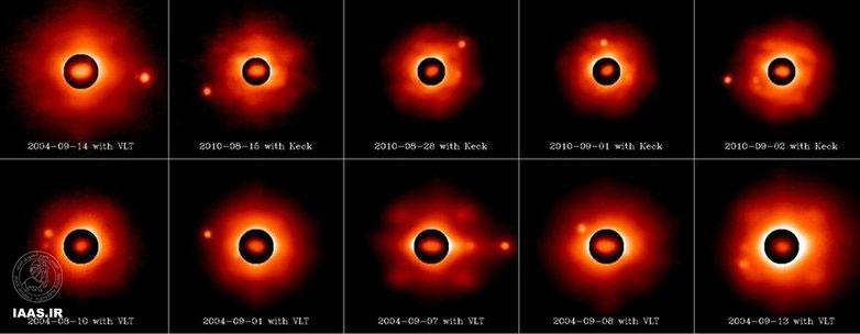رصدهای صورت گرفته از سیستم سیارکی سه گانه با تلسکوپ های هشت تا 10 متری