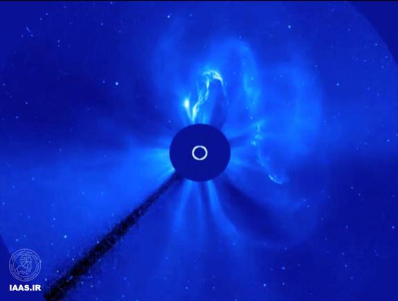 برخورد توفان خورشیدی با زمین
