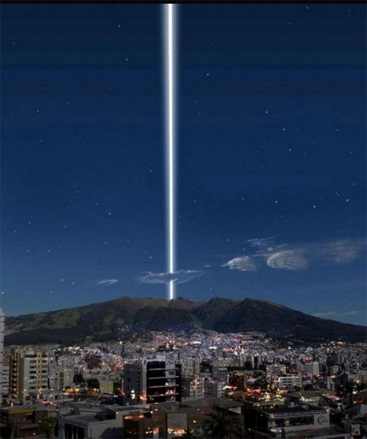 حلقه های فرضی زمین در اکوادور