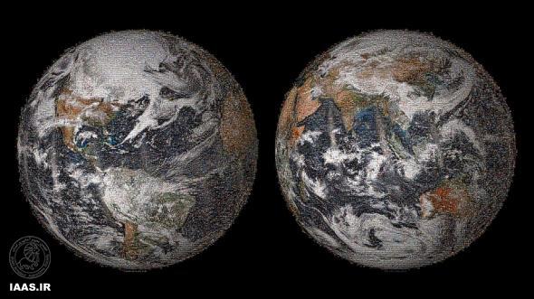 این تصویر موزائیکی و بزرگ 3.2 گیگاپیکسلی ناسا است از... ما! ناسا این تصویر را سال پیش از ترکیب 36422 عکس جداگانه که در روز زمین در شبکه های اجتماعی به اشتراک گذاشته شده بودند درست کرد. Image via NASA