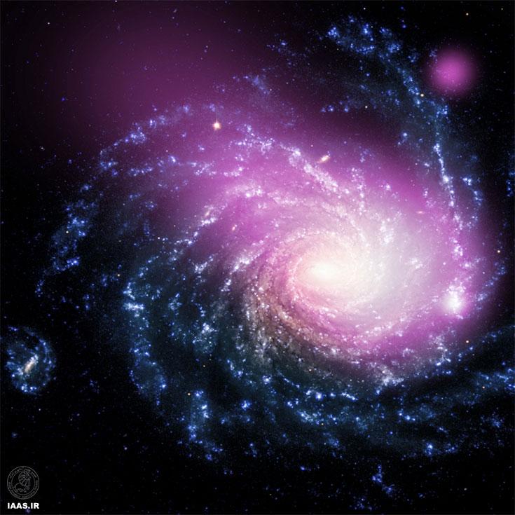 کشف ابر گازی چند میلیون درجهیی حاصل از برخورد دو کهکشان