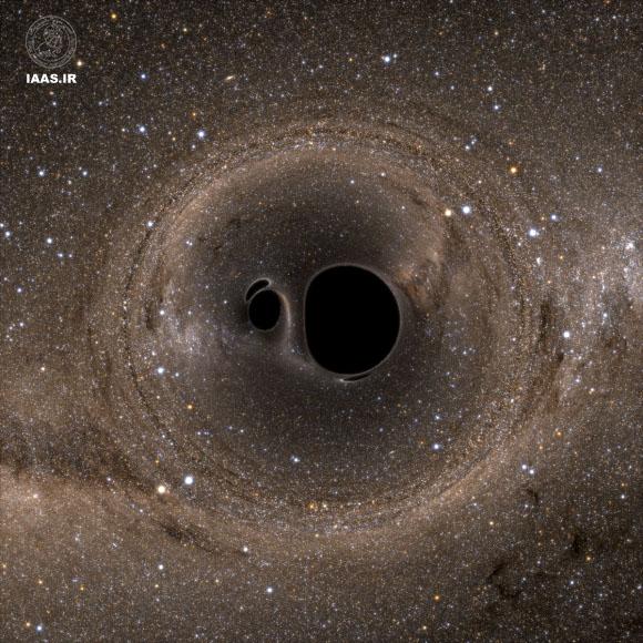 نمای بالا از یک سیستم سیاه چاله دو تایی