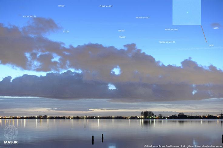 نگاهی اجمالی به دنباله دار آیسان در هلند 28 نوامبر 2013