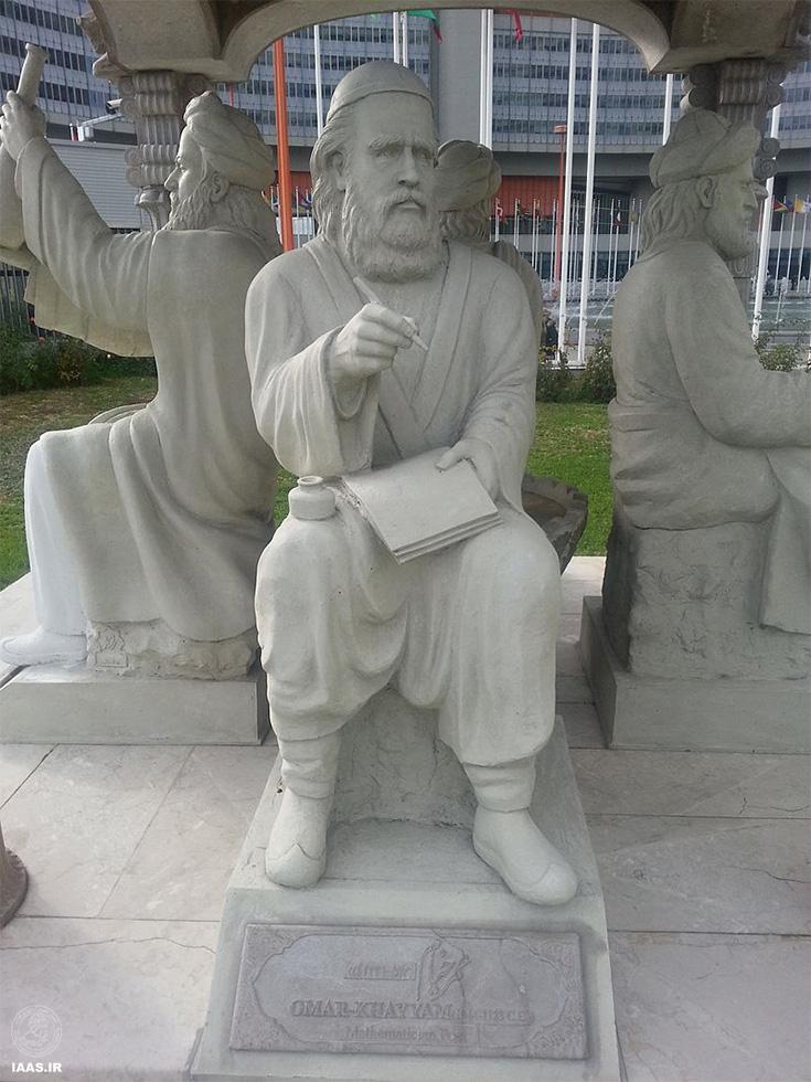 تندیس چهارتاقی دانشمندان ایرانی