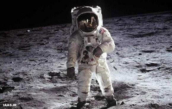 عکس مشهور باز آلدرین بر روی ماه در ماموریت آپولو ۱۱. اعتبار عکس: ناسا