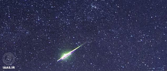 تصویری دیدنی از انفجار شهابسنگ در جو زمین