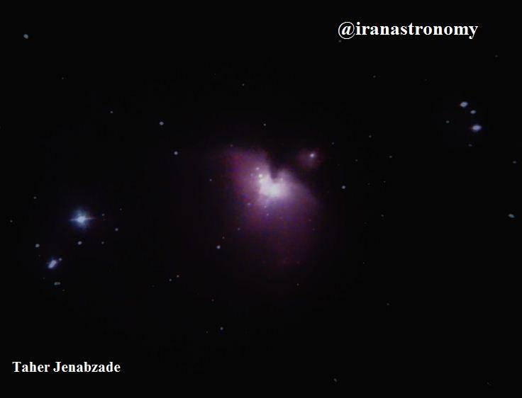 اعماق آسمان- سحابی نشری بزرگ منش و یا جبار M42 در صورت فلکی شکارچی