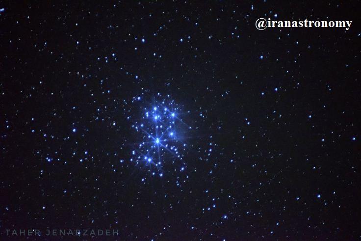 اعماق آسمان- خوشه باز ستاره ای پروین M45 در صورت فلکی گاو