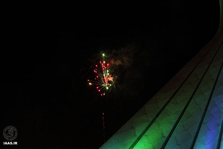 آتش بازی بعد از پایان برنامه به مناسبت روز ملی نجوم