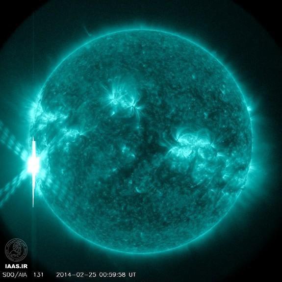 بزرگترین جرقه خورشیدی 2014 در کلاس X