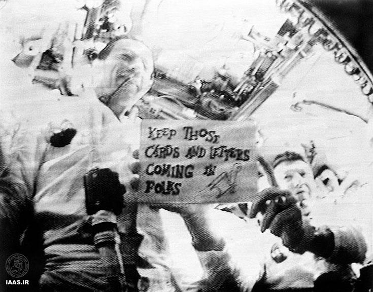 پخش زنده ماموریت آپولو-7 در فضا