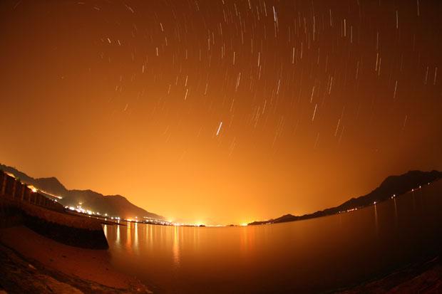 رد ستارگان و آلودگی نوری