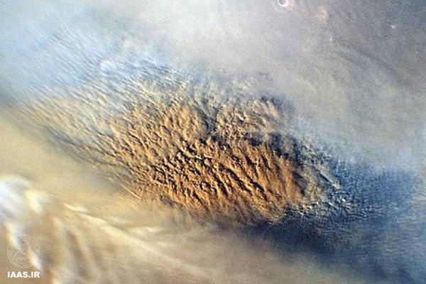 طوفان خاک روی مریخ