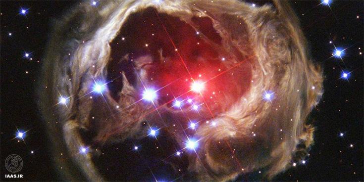 صحنهی نابودی ستارهی V 838 تکشاخ