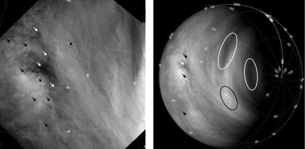 تصاویر ارسالی مدارگرد Venus Express